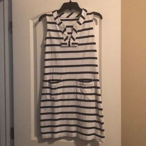 Kate Spade navy and white stripped dress XS